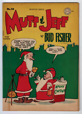 MUTT AND JEFF #20 6.0 CHRISTMAS COVER 1945 OFF-WHITE PAGES