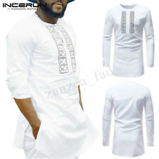 INCERUN Mens African Ethnic Clothing Dashiki Printing Tops Mexican Tee T-Shirt