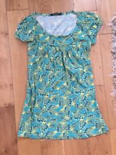 PRIMARK SIZE 8-10 GREEN YELLOW TOP TSHIRT BLOUSE SUMMER HOLIDAY