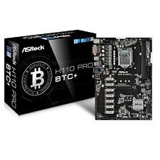 ASRock H110 Pro BTC+ Mainboard LGA1151 ATX minage cryptomonnaies 13x PCI-e NEW