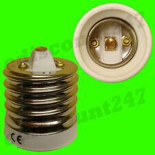 CE CERTIFIED E40 To ES E27 (WHITE) Adaptor Converter LED Lamp Holder UK SELLER.