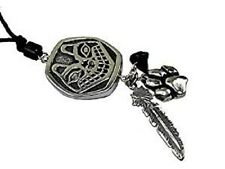 Wolf Totem Pendant with Two Spirit Charms and Spirit Bead #HC-TS04