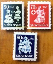EBS Slovakia Slovensko 1943 Children's Assistance Michel 112-114 MNH**
