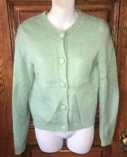SWEET Vintage UNITED COLORS OF BENETTON Mint Angora/Mohair CARDIGAN SWEATER, M/L