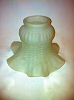 Ceiling light shade globe scone ruffled ends frosted etched hobnail petticoat