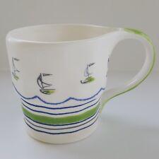 Anthropologie Windward Sail Boat Nautical Coffee Tea Mug Cup
