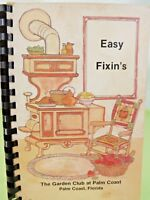 Vintage Recipe Spiral Cookbook Garden Club Palm Coast Florida 1983