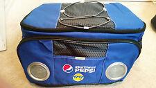 REDUCED RARE PEPSI Cooler Bag Speaker Tote Emoji ICE PEPSI COLA NEW 24 CANS