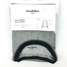 Goodfellow & Co Mens Cotton Blend Thermal Shirt Small Heather Gray