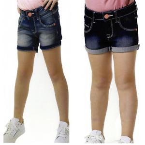 Denim Kinder Mädchen Blauer Jeans Shorts Skinny Fit