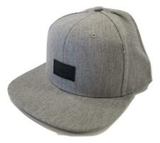 Vans - LEATHER RIP Mens Hat (NEW) Heather Grey Gray SNAPBACK CAP : Free Shipping