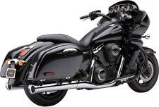 "Cobra Classic 4"" Slip-On Mufflers Scalloped Chrome Tip 4228 08-7778 1811-3057"