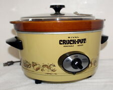 Rival 3350 Slow Cook 5-Qt Crock Pot ~ Removable Vessel + Vented Plastic Lid