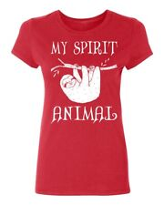 My Spirit Animal Funny Sloth Women's T-shirt Casual tee