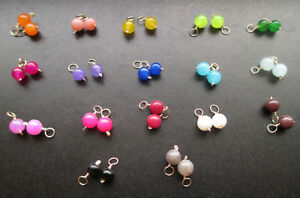 MINI JADE 4mm Multicolor Charms Drops Dangles for Interchangeable Jewelry