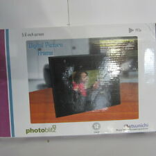Digital Picture Frame Matsunichi Photoblitz 5.6 Inch Screen With Digital Clock
