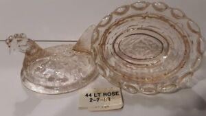 Boyd Crystal Art Glass - Vintage Chick Salt  #44 Light Rose - 1st Generation
