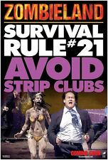 Zombieland movie poster Survival Rule # 21 Avoid Strip Clubs : 11.5 x 17 inches