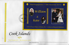 Isole Cook 2011 FDC ROYAL incastro IV Speciale S / S COVER Principe William Kate