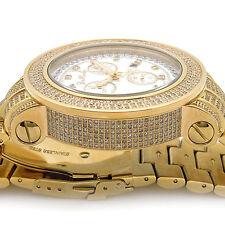 Mens Diamond Watch Joe Rodeo Junior JJU305 Chronograph 11.50 ct Yellow Gold
