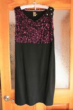 Taylor Woman Black Blouson Knee-Length Cocktail Dress Sz 14W NWOT