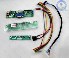 LCD LVDS Controller Driver Board Inverter DIY Kit 2270 + Power Adapter VGA Cable