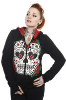 SUGAR CANDY SKULL Hoodie Banned Living Dead Souls Emo Punk Goth jumper top black
