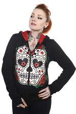 SUGAR CANDY SKULL Hoodie Banned Living Dead Souls Emo Punk Goth jumper top black