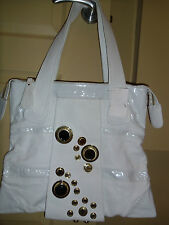 NWT  Authentic Gustto  Large Tote Leather Handbag White