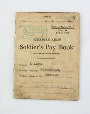 Deux Paybook canadiens du même soldat  WW2 ( originaux )