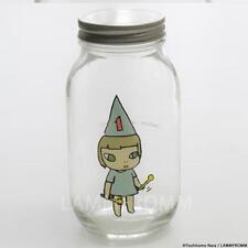 Yoshitomo Nara Glass Storage Jar L Girl 1 Blue ❤ Japan Art