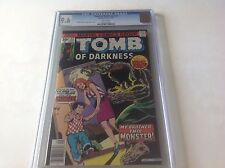 TOMB OF DARKNESS 22 CGC 9.6 WHITE PS MY BROTHER THIS MONSTER MARVEL COMICS 1976