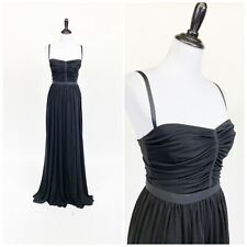 NWT Dolce & Gabbana Slinky Jersey Ruched Bodice Evening Dress Gown 40