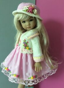 """Outfit & shoes for Dianna Effner doll Little Darling 13"""" 5pc."""