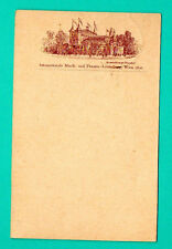 AUSTRIA WIEN 1892 VINTAGE POSTCARD USED RARE 594