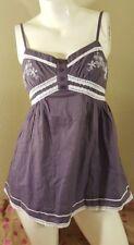 Ruby Rose Womens Top Size Small Spaghetti Strap Tank Dusty Purple Cotton New