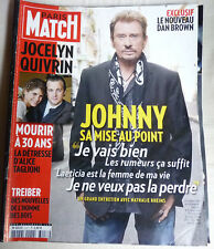 PARIS-MATCH-JOHNNY HALLYDAY-mise au point-2009