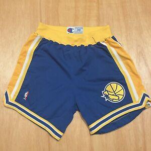 100% Authentic Golden State Warriors Vintage Champion Shorts Size 38 L XL Mens
