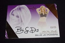 2012 Benchwarmer BILLIE JO POWERS Hot For Teacher #4 Black Auto/25 Swimsuit USA