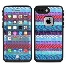 Skin Decal for Lifeproof iPhone 7 Plus Fre Case / Aztec Blue Tribal Chevron