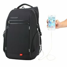 LUXUR Nylon Waterproof Laptop Backpack Casual School Business Travel Daypack Fit