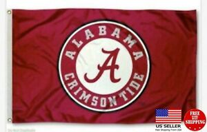 FLAG 3X5 Alabama Crimson Tide Football New Fast USA Shipping Crimsontide Bama