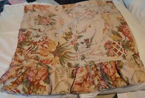 Vintage Ralph Lauren Guinevere King Pillow Case Ruffle Edge Floral Cotton Sateen