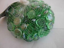 100 GREEN GLASS NUGGETS STONE FISH TANK FIREPIT VALENTINES  DECORATIONS VASES