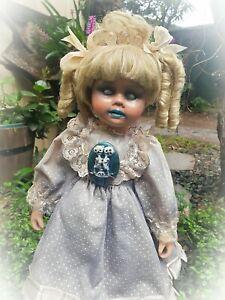 OOAK Porcelain Ghost Girl Doll Goth Gothic Spirited Haunted