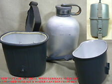 VTG NEW STOCK POST WWII WEST GERMAN ARMY  MILITARY MESS KIT+WATER CANTEEN 60'S 2