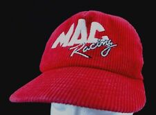 Vintage Mac Tools Racing Corduroy & Mesh Embroidered Red Snapback Trucker Hat