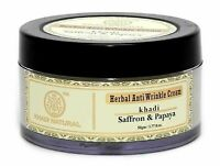 Khadi Natural Saffron & Papaya Anti Wrinkle Cream, 50gm free ship