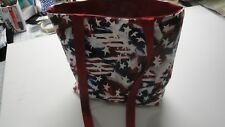 Red, White & Blue Patriotic Flags Tote Bag-Machine Quilted-Hand Made