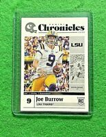 JOE BURROW ROOKIE CARD LSU TIGERS RC 2020 PANINI CHRONCILES DRAFT PICKS BENGALS